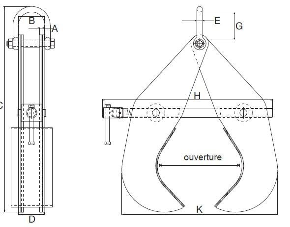 Plan d'ensemble Pince Superclamp à tuyau type P