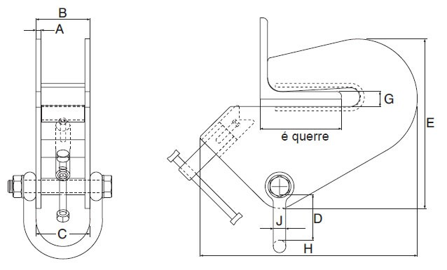 Plan d'ensemble Pince Superclamp type AC