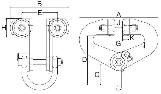 Plan d'ensemble Pince Superclamp type A