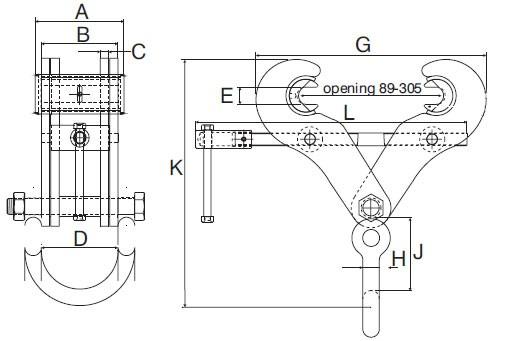 Plan d'ensemble Pince Superclamp type S (mors amovibles)