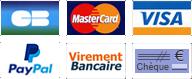 CB, PayPal, Virement bancaire, chèque